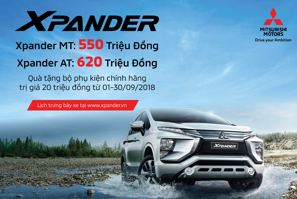 Mitsubishi XPANDER chính thức công bố giá bán